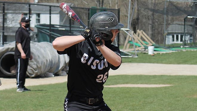 Will Kleinhenz went 2 for 3 in the second game with three runs and three RBIs, enabling Nichols to sweep a baseball doubleheader from Western New England on Wedneaday.