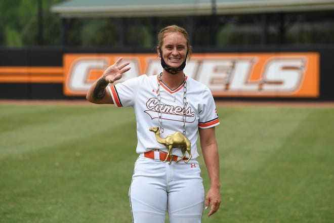 Bri Bryant hit three home runs in three consecutive at-bats to lead Campbell over Charleston Southern in Game 1 of a doubleheader on Saturday, April 17, 2021. Her performance notched a spot in ESPN SportsCenter's Top 10 Plays.
