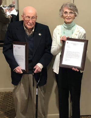 John and Lynn Lane received awards for their service and contributions to theArkansas Military VeteransHall of Fame.
