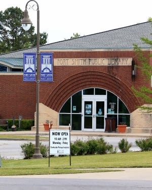 The Miller Branch Library, 8701 S. 28th St., as seen Thursday, April 22, in Fort Smith.