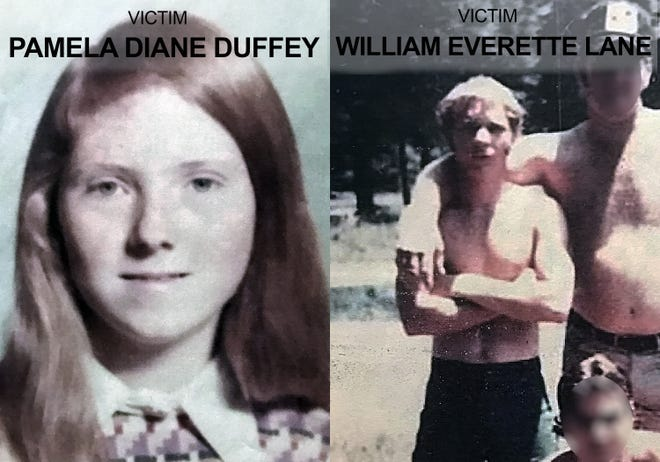 Sheriff's officials identified Pamela Diane Duffey and William Everette Lane as a couple whose remains were discovered in a shallow grave near Ludlow in 1980.