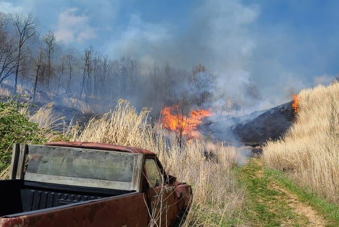 An April 15 fire at Ralph Metcalf Road burned 45 acres, according to county rangers with the N.C. Forest Service.