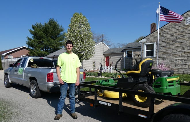 Zach Cox has been operating his own business, Zach's Lawncare, since he was 10. He just turned 16.
