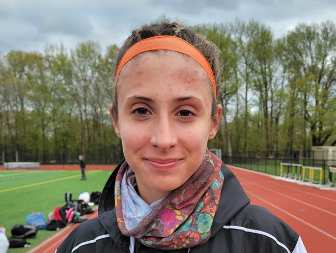 Clearview senior Hailey Russo is a midfielder for the 2021 Pioneers lacrosse team