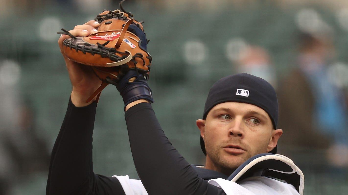 Detroit Tigers send catcher Grayson Greiner to injured list, release Franklin Perez