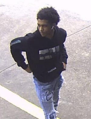 Southfield police are looking for this man in connection with the theft of another man's eyeglasses at a car wash last Friday.