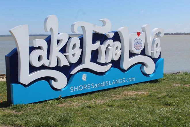 The City of Port Clinton is putting in several improvements near the Lake Erie Love sign at Waterworks Park, including a sidewalk and steps down to the city beach area. There will also be a kayak launch installed east of the sign.