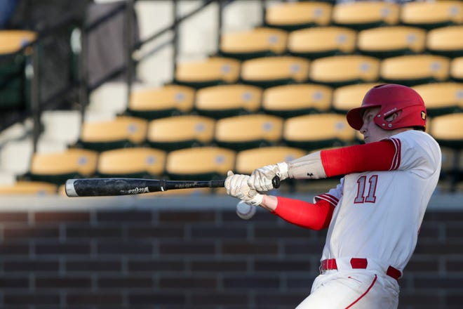 West Lafayette's Nate Brown (11) swings during the sixth inning of an IHSAA baseball game, Wednesday, April 21, 2021 in Lafayette.