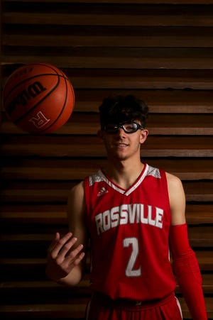 Rossville's Damon Shaw is the 2021 Journal & Courier Small School Boys Basketball Player of the Year.