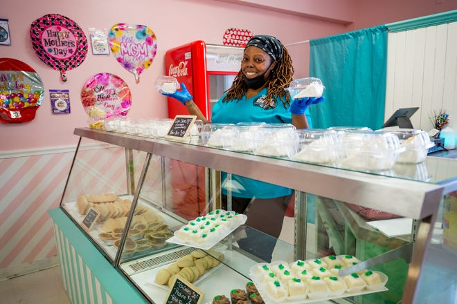 Jermela Decuir-Haynes is the confectionery specialist/owner/entrepreneur of Sweet Envie, located at 4302 Moss Street, Lafayette, LA.Thursday, April 22, 2021.