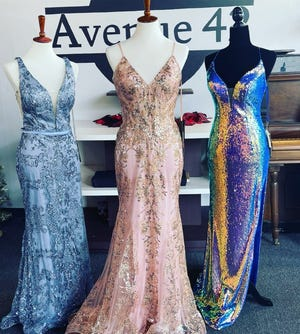 Formal wear store Avenue 42 is gaining more customers as Marion Couny schools gave the green light for proms this year. One of the more popular stlyes are sparkly gowns.
