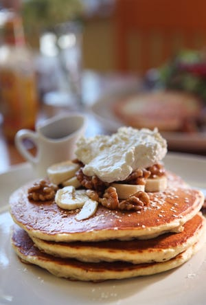 Breakfast items such as pancakes are on the menu at Simple Cafe. The restaurant at 2121 N. Farwell Ave. will be closing sometime before the end of July because of the pandemic.