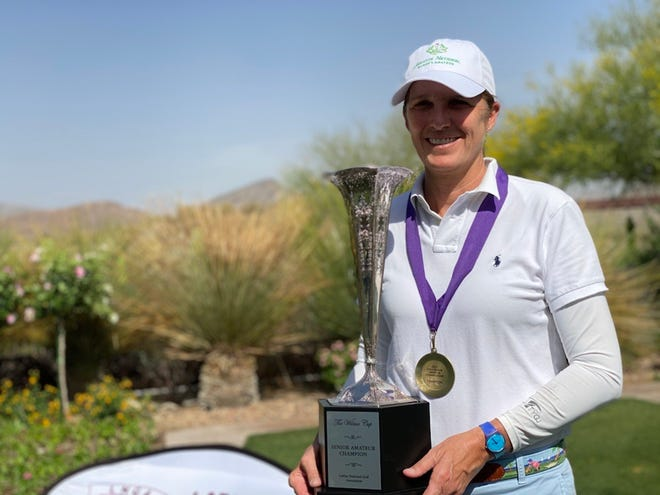 U.S. Curtis Cup captain Sarah Ingram won the inaugural LNGA Senior Amateur tournament on April 21, 2021 in Anthem, Arizona.