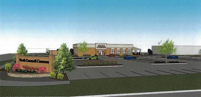 This is an artist's rendering of the Lebanon location of Mick's All American Pub, set to open in the autumn in North Cornwall Commons
