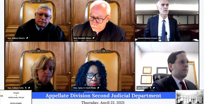A hearing to rule on Nicole Addimando's appeal was heard virtually with four judges in the Appellate Division Second Judicial Department Thursday.