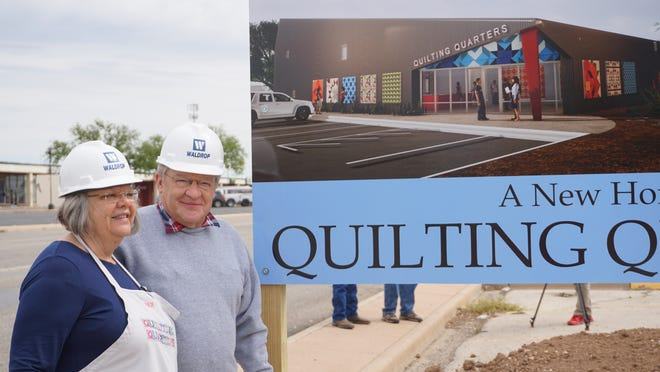 Debbie and husband Phillip Steinbach of Quilting Quarters.