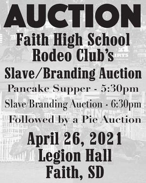 An advertisement for a slave/branding auction for Faith High School's Rodeo Club has been circulating on social media this week.