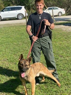 Indian River County Sheriff's Deputy Mindy Mangel and K-9 Joker