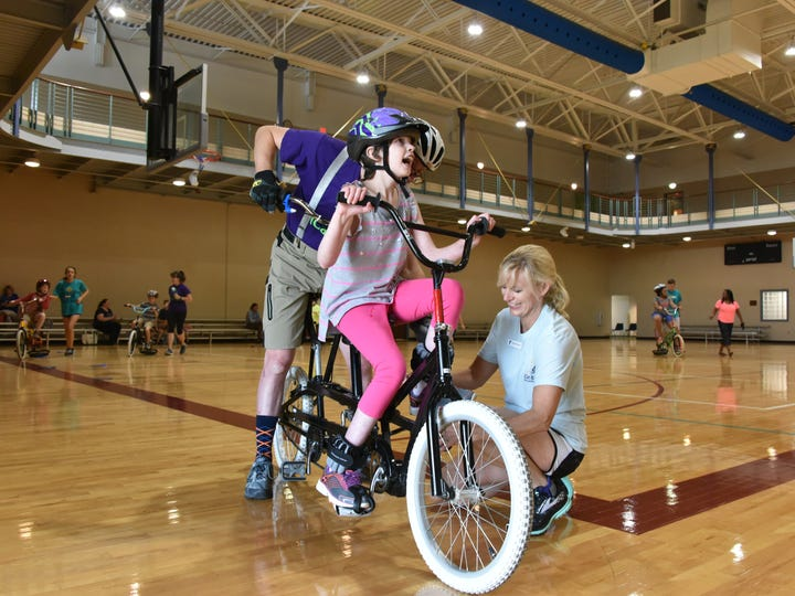 iCan Bike is a program offered each summer through the YMCA of GreenvilleÕs Eastside Family YMCA.