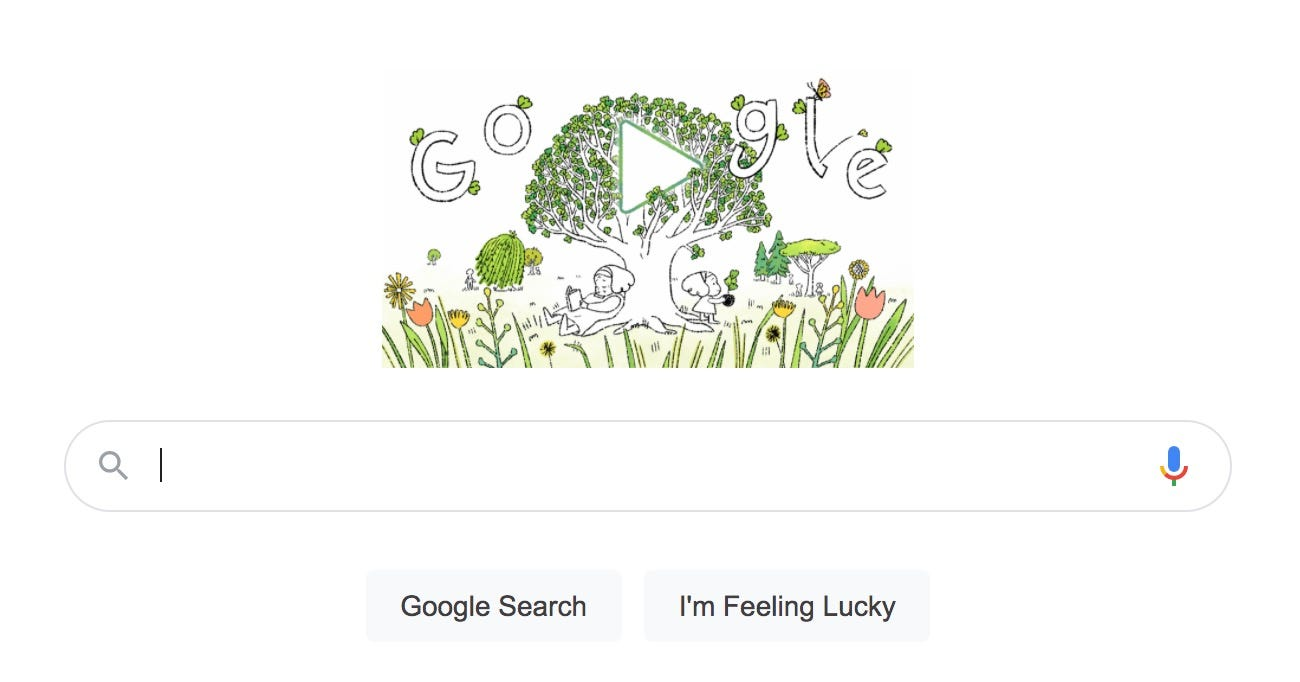 Google celebrates Earth Day with charming new doodle