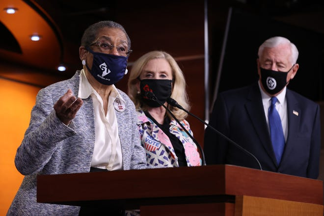 Del. Eleanor Holmes Norton, D-D.C., speaks during a news conference about statehood for the District of Columbia with Rep. Carolyn Maloney, D-N.Y., and House Majority Leader Steny Hoyer, D-Md., at the U.S. Capitol on Wednesday.
