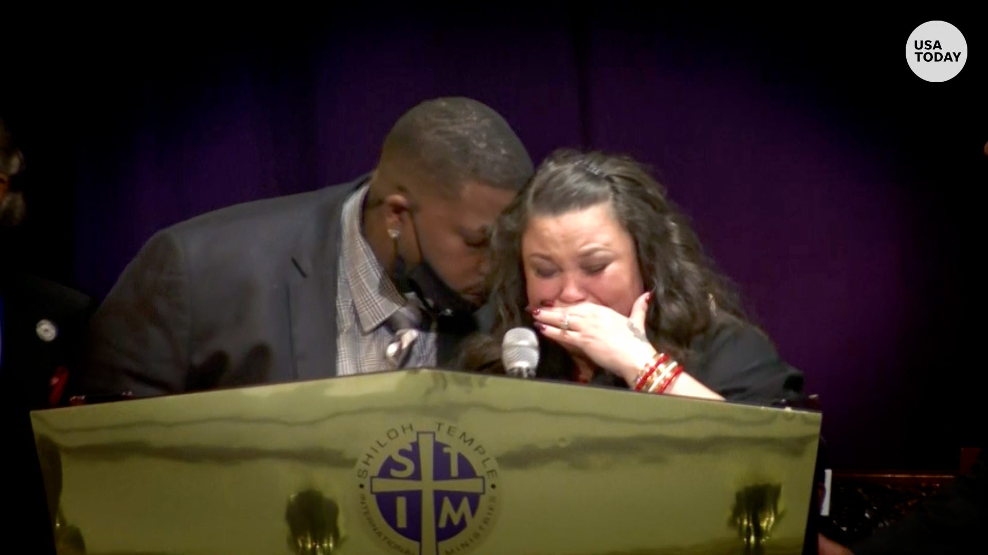 'Words can't explain how I feel': Daunte Wright's parents share grief at son's funeral