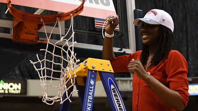 Former Clarke Central star Ganiyat Adeduntan was hired as head coach of Colgate's women's basketball program on Wednesday. (Photo courtesy Colgate athletics)