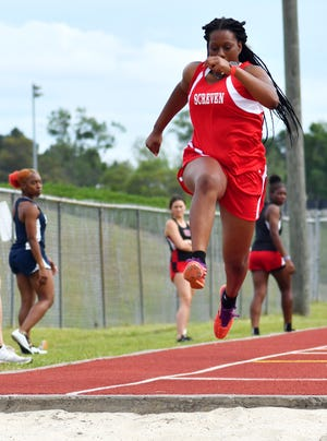 Screven County's Ta'Myia Tyler was the top Lady Gamecock finisher at the Region 3A meet to advance to the Class A South Georgia Sectionals on May 8. Tyler was the region runner-up in the triple jump.