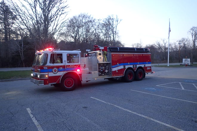 """For Chief Maruca and the WBFD, the importance of such """"engine-tankers"""" is hard to overstate, because West Barnstable is one of the few Cape communities with no fire hydrant system."""