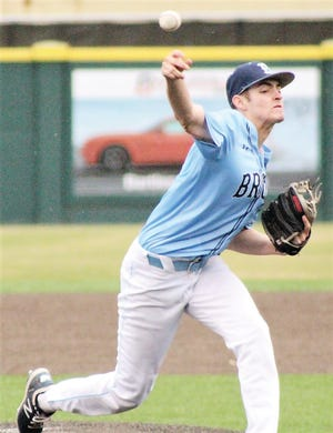 Jakob Hall threw six innings of three-hit, shutout ball Thursday for Bartlesville High. He struck out 11 batters.
