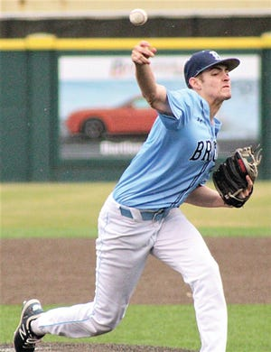 Bartlesville High's Jakob Hall turned in a superior performance during six shutout innings Thursday against the Bixby High Spartans. Hall struck out 11 batters — including every starting hitter in the Spartan lineup at least once. He has committed to play baseball at Oral Roberts University.