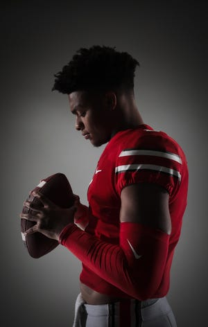Ohio State quarterback Justin Fields, here posing for a portrait in 2019, is expected to be a top-10 pick in Thursday's NFL Draft.