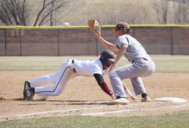 Eli Jung and the Minnesota Crookston baseball team split a doubleheader with Southwest Minnesota State on Thursday.
