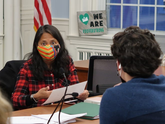 Dover Racial Equity and Inclusion Committee members Luz Bay and Timothy Mainella are seen during a Thursday, April 22, 2021 meeting.