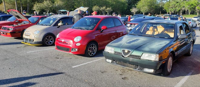 Alfa Romeo and Fiats at a recent Caffeine and Gasoline at the Orange Park mall.