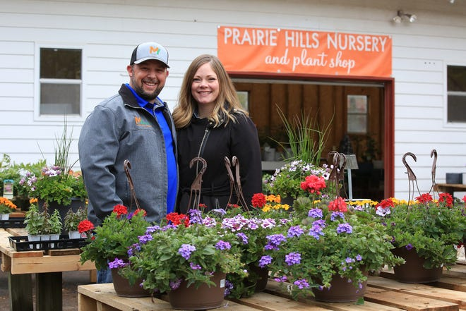 Travis and Kristen Mullen have opened Prairie Hills Nursery and Plant Shop at the corner of 30th Avenue and Apple Lane. they sell a variety of flowers, vegetables, trees and shrubs and other landscaping supplies.