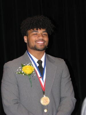 Drae Allen, son of Latia Washington and Dwight Allen, was named recipient of the 76th annual Jonah Edward Kelley Award Friday morning at Keyser High School.