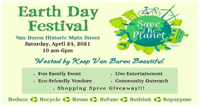Keep Van Buren Beautiful will be hosting an earth day festival on Saturday, April 24. The event will feature live music, food trucks, and vendors.