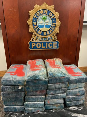 Twenty five kilos of cocaine washed up on the beach near the 3400 block of South Ocean Boulevard. (Palm Beach Police Department)