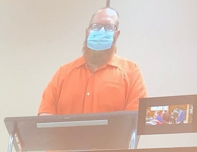 Jason Neading, a former Sandy Valley teacher, was arraigned Friday on a rape and gross sexual imposition indictment. He plead not guilty to both counts.