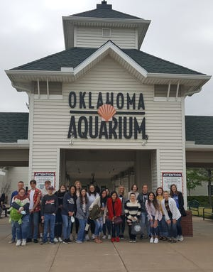 The SSC Business and Industry program recently held a trip to the Oklahoma Aquarium in Jenks for high school seniors participating in the SSC/BancFirst Student Bank Board program.