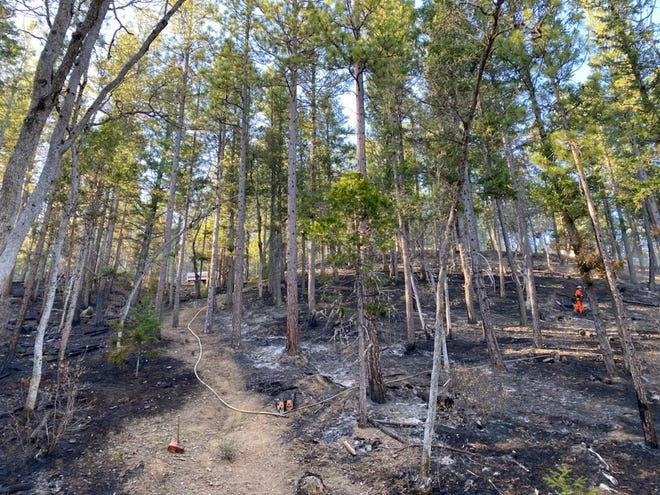 The Mary Incident burned around four acres in the Etna area Thursday afternoon, April 22, 2021.