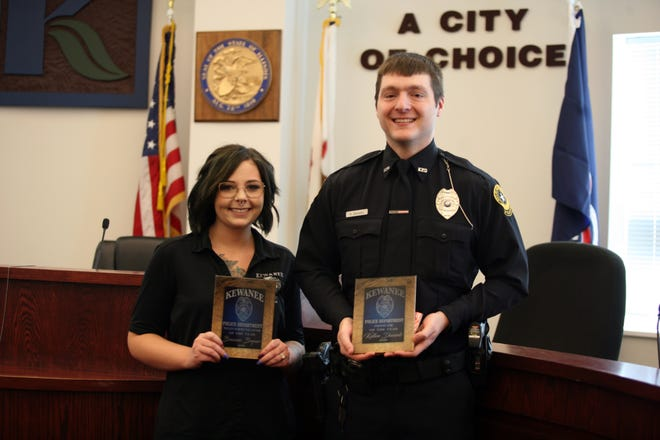 Officer Kellen Daniels was selected as the Officer of the Year and Breanne Bryner was selected as the Telecommunicator of the Year for 2020.