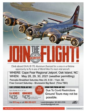 WWII Bomber Visit to Cape Fear Regional Jetport over Memorial Day Weekend