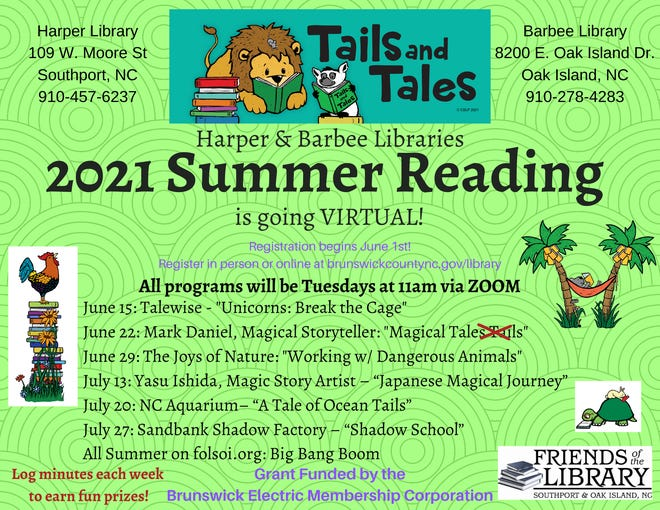 Harper Library and G V Barbee Sr Library 2021 Summer Reading program will be held virtually every Tuesday.