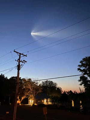 SpaceX is seen over Southport as it begins its six-month mission to space.