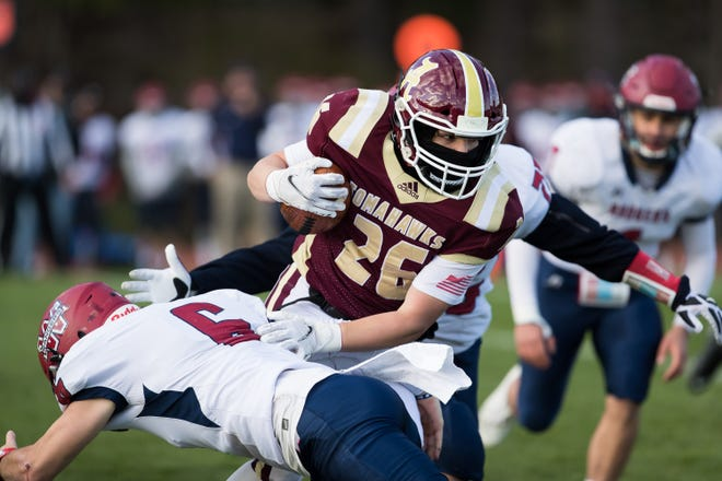 Algonquin's Jason Levin, shown in action last spring, scored on a 5-yard run in the third quarter Friday night at Shepherd HIll.