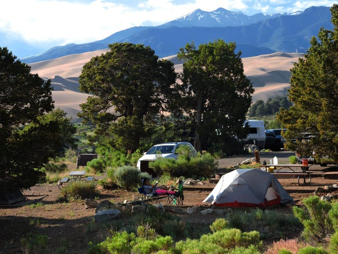Pinon Flats Campground in Great Sand Dunes National Park and Preserve