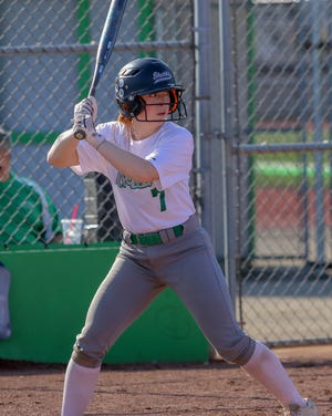 """Madi Comstock was batting .408 through 13 games for Scioto, which has battled inconsistency on offense. """"We're battling ourselves. We're getting in our own way a little bit,"""" coach Brooke Ott said."""