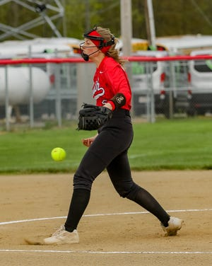 Westerville South senior Megan Shoemaker threw her second no-hitter of the season April 22.